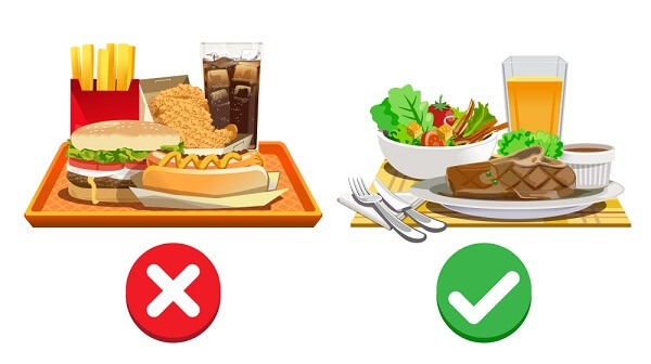 what unhealthy food vs healthy food actually means